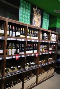Фото: обновленный супермаркет Точка, алкоголь